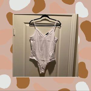 Tops - White basic body suit.